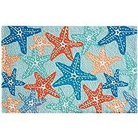 C&F Home Hooked Starfish Coastal Parfait Rug, Blue