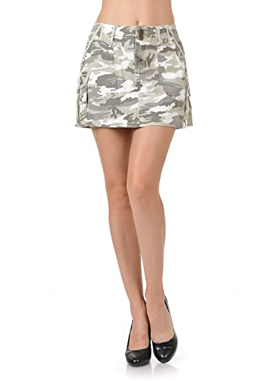 c88abc87e94c Lucy Womens Juniors Sexy Army camo Camouflage Denim Jeans Cargo Mini Skirt  at Amazon Women's Clothing store: