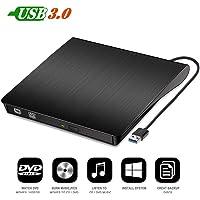 Famous Quality® External Drive USB 3.0 Portable CD DVD RW Optical Drive Burner Writer for Windows10/8/7 Laptop Desktop PC (Multi-Coloured)