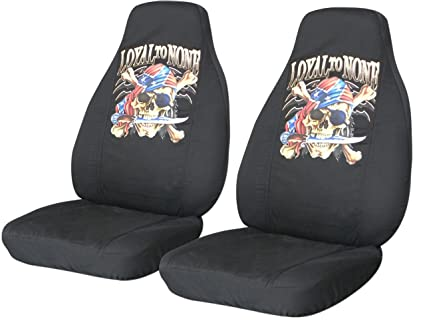 Admirable Amazon Com 2 Black Pirate Seat Covers For A 2008 To 2009 Dailytribune Chair Design For Home Dailytribuneorg