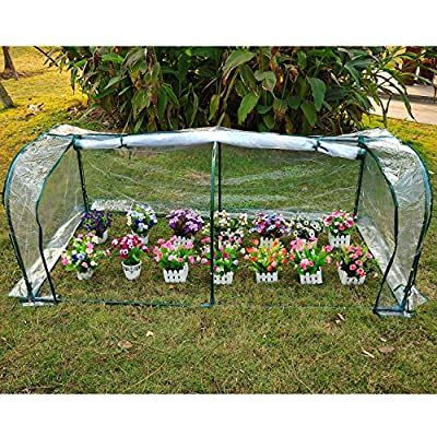 Light green 7'x3'x3' Greenhouse Mini Portable Gardening Flower Plants Yard Hot House Tunnel by Greenhouses & Cold Frames