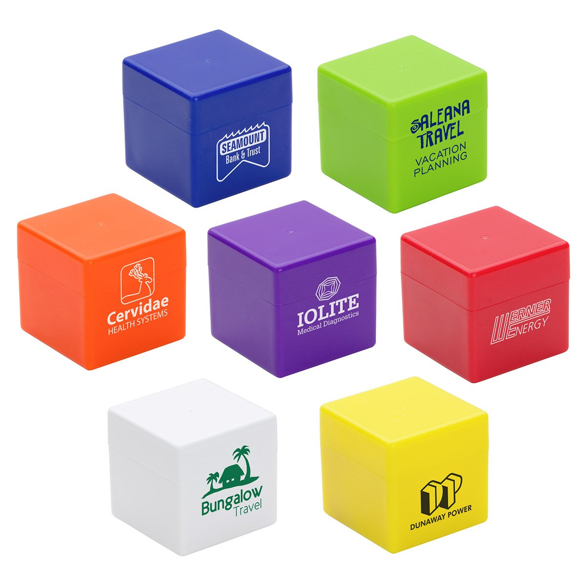 100 Customized Cube-It Flavored Lip Balm With Your Logo or Message