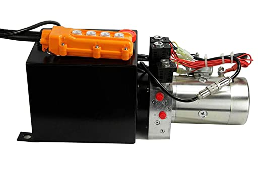 253305 SAE 6 Ports 4-Function 2500 PSI Maxim Double Valve Power Unit 12V DC, Double Acting 8 Qt HPU Dimensions: 21 L x 7.8 W x 9 H : 1.3 GPM Poly Tank