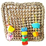 Hapa Parrot Seagrass Foraging Wall Toys - Bird Toys For Parrots,Conures,African Grey,Conure Cockatiel,Aviary Including Straw,Color Plastic Toys