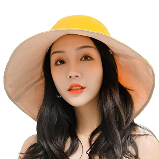 a91e9c75f Women Sun Protection Hats Travel Wide Brim Chin Cord Elegant Summer Beach  Cap UPF 50+