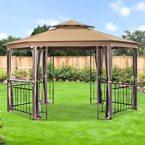 Hexagonal (corner pocket) Gazebo Replacement Canopy - RipLock (Corner Gazebo)