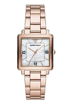 Emporio Armani Reloj Analógico para Mujer de Cuarzo con Correa en Acero Inoxidable AR11177: Amazon.es: Relojes