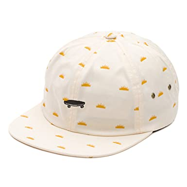 Vans Off The Wall Men s Salton Strapback Hat Cap - Creme Del Sol at ... 77f3c1a43f0
