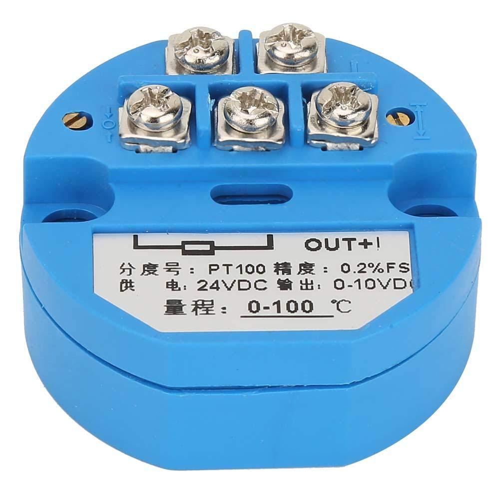Transmisor de temperatura 50~400 grados Transmisor de temperatura 0-10V con sensor 1M PT100 Sensor de temperatura Salida DC24V