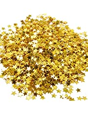 eBoot Star Confetti Star Table Confetti Metallic Foil Stars Sequin for Party Wedding Decorations, 30 Grams/ 1 Ounce (Gold)