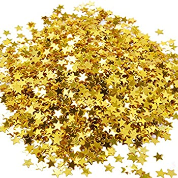 eBoot Star Confetti Golden Star Table Confetti Metallic Foil Stars Sequin for Party Wedding Decorations, 30 Grams/ 1 ounce