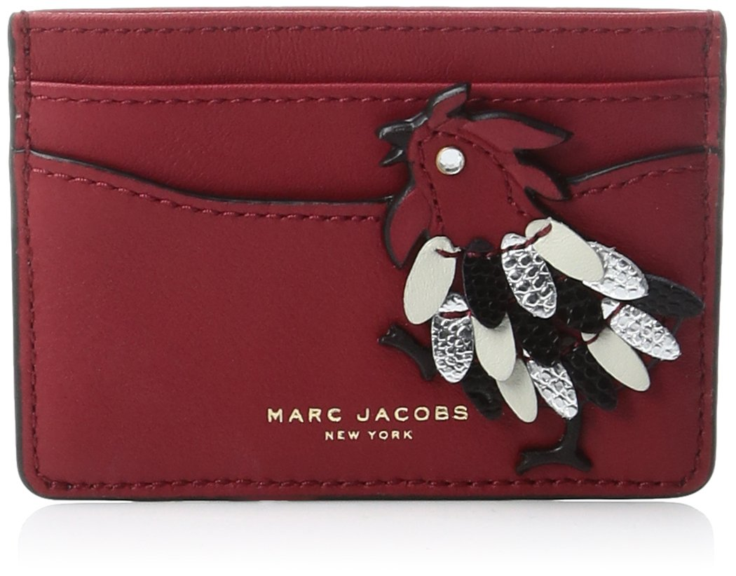 Rooster Card Case Credit Card Holder, SCARLET, One Size