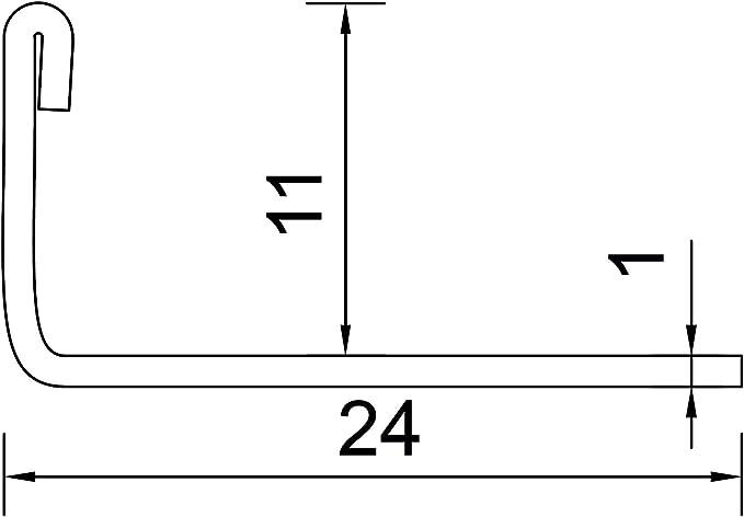 250cm Schiene 2,5 METER H/öhe: 11mm PREMIUM FUCHS Fliesenschiene Winkelprofil Edelstahl V2A Geb/ürstet 1mm St/ärke kein Verdrehen m/öglich