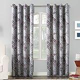 Sun Zero Reardon Distressed Global Tile Print Grommet Curtain Panel, 54″ x 95″, Plum Review