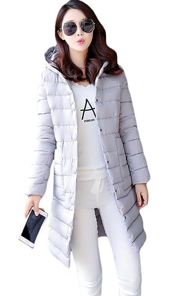 Smile YKK Abrigo - Mujer, Mujer, color gris, tamaño Medium: Amazon.es: Ropa y accesorios