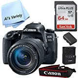 Canon 77D W/EF-S 18-135mm IS USM (Bundle) with Free SanDisk Ultra 64GB SDHC Class 10 Card