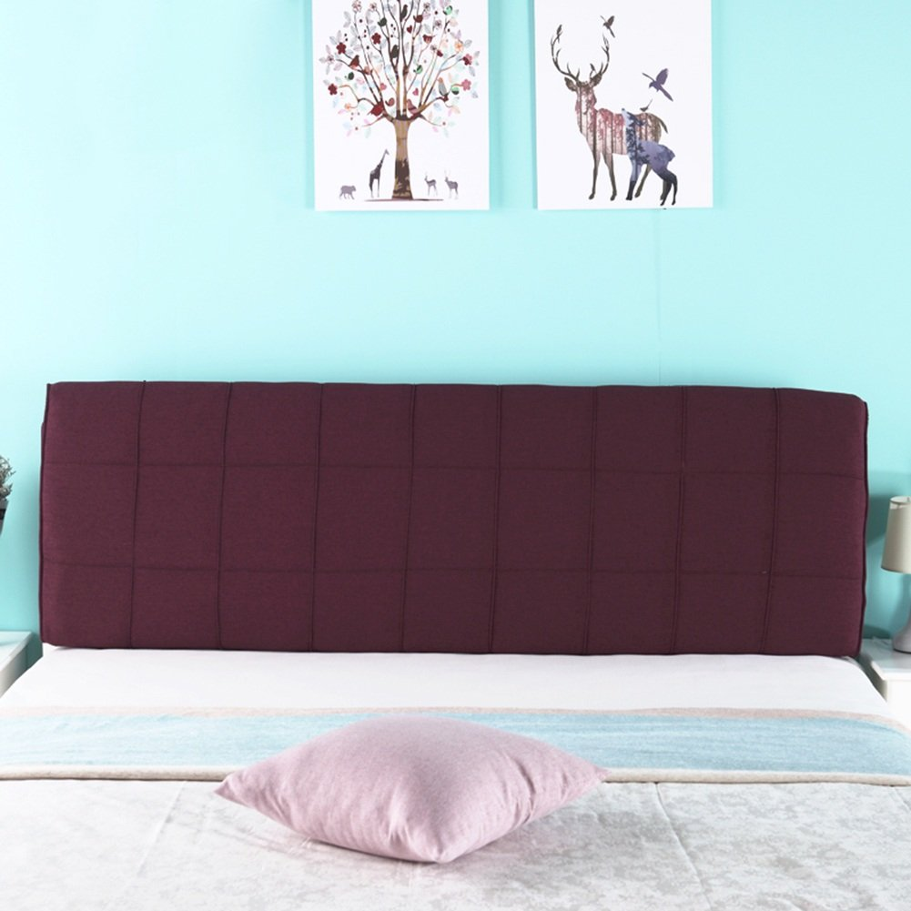 5  With headboard-190cm WENZHE Upholstered Fabric Headboard Bedside Cushion Pads Cover Bed Wedges Backrest Waist Pad Cloth Art Pillow Multifunction Large Back Washable Do Not Fade, There Is Headboard   No Headboard, 5 colors, 5 Sizes ( color   4  , Size
