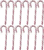 Candy Canes Zuckerstangen 12 Stück, rot-weiß