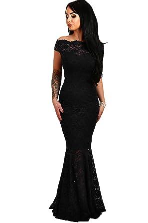 Off Shoulder Fishtail Evening Dress