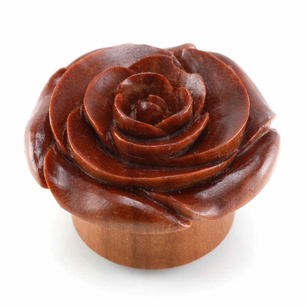 Chocolate Rose Smooth WildKlass Plugs (Sold as Pairs) (00g) by WildKlass Jewelry