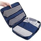 ワイシャツケース 出張用 ネクタイ 収納 コンパクト 衣類収納ケース 防水 シワ防止 ビジネス 小物入れ 折り畳み板2個付き