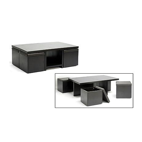 Amazoncom Baxton Studio Prescott 5Piece Modern Table and Stool