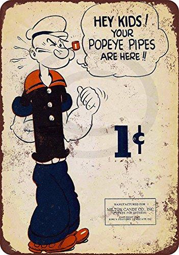Popeye tin sign