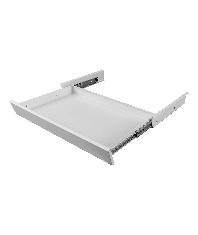"Stand Up Desk Store Sliding Under-Desk Pencil Drawer - Provides a Convenient Under-Desk Storage Organizer (21.5""W x 12""D, White)"