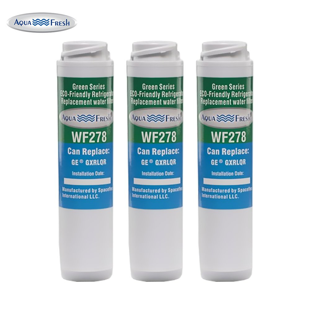 Aqua Fresh WF278 Replacement Inline Water Filter for GE-GXRLQR, FQSLF, FQSVF (3 Pack)