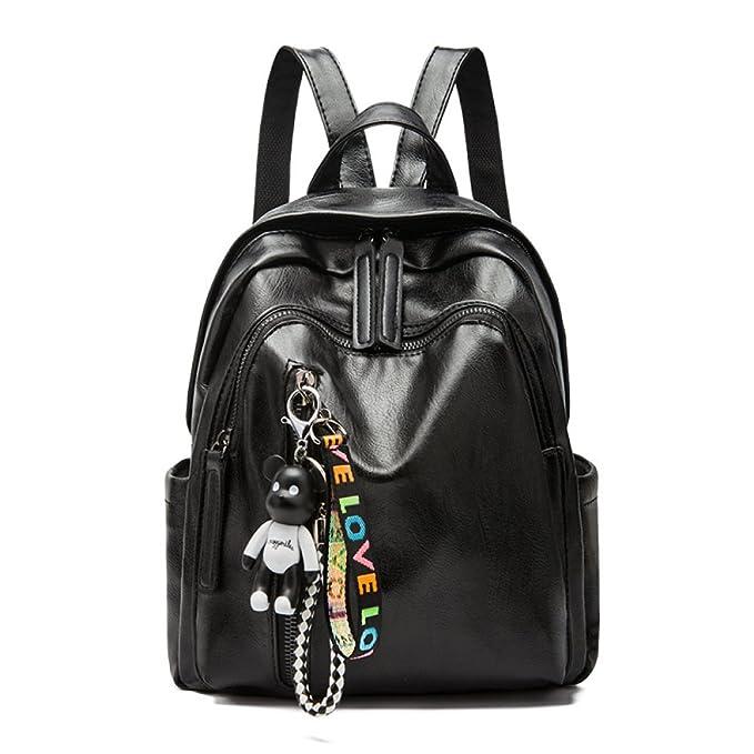 b450dca556c211 Zaini Moda Donna Zaini In Morbida Pelle Tote Bag Di Grande Capacità Moda  Casual,Black-22*11*29cm: Amazon.it: Abbigliamento