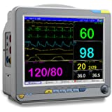 12.1 Inch Color Portable Patient Monitor with 6 Standard Parameter, Printer Included (Gray)