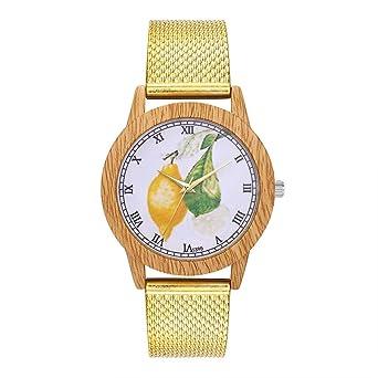 T397-F Reloj de Silicona para Mujer Estampado de Frutas Reloj de ...