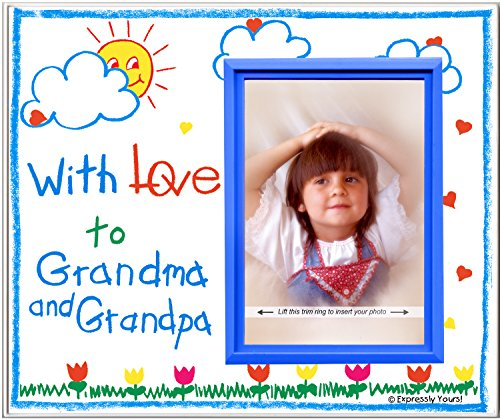 (With Love to Grandma & Grandpa (crayola) Picture Frame Gift )