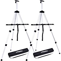 Ohuhu Artist Easel, Aluminum Field Easel Stand with Bag for Table-Top/Floor, 2-Pack Art Easels with Adjustable Height…