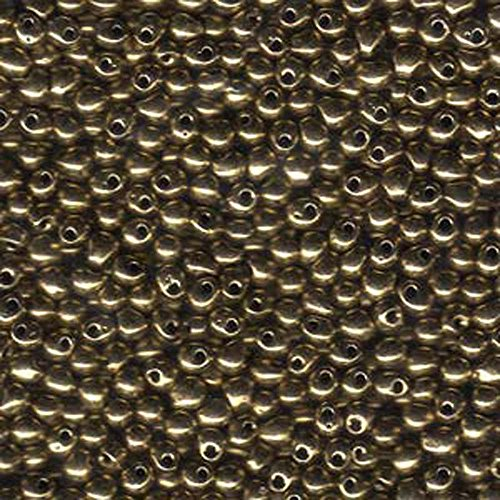 Bead Fringe (Bronze Metallic Miyuki 3.4mm Fringe Seed Bead Glass Tear Drops 25 Gram Tube Approx 650 Beads)