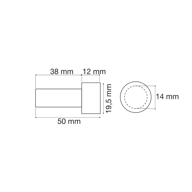 5 x Garderobenhaken TUULA echt Edelstahl massiv /Ø 10//15 mm L/änge 30 mm Gesamtl/änge 33 mm mit Platte Wandhaken Kleiderhaken Jackenhaken von SO-TECH/®
