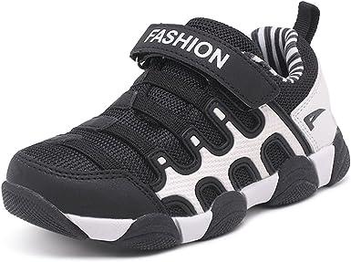 Kids Boys Girls Mesh Breathable Running Shoes Hoop Loop Sports Slip On Sneakers