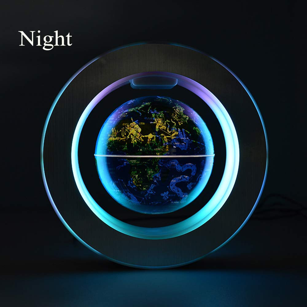 YANGHX Magnetic Levitation Floating World Map With Constellations LED Light Globe 2 in 1 Anti Gravity Suspending In The Air Decoration Gadget Children's GIFT ( Blue 6 inch ) by YANGHX (Image #3)