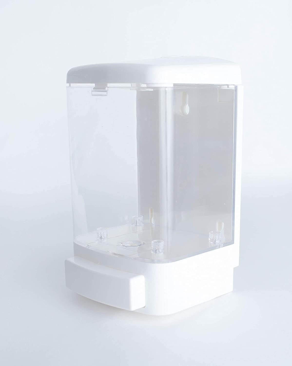 Vanilla Brick Soap Dispenser Easily Wall Mount in Your Bathroom, Shower, Kitchen, RV, Office or Commercial Building. Perfect for Hand Soap, Shampoo, Conditioner, Body Wash 33.8 oz (1000ml) White Clear
