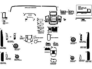 Rdash Dash Kit Decal Trim for Dodge Ram 2002-2005 (1500) / 2003-2005 (2500 / 3500) - Wood Grain (Burlwood Dark)