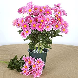 Efavormart 88 Artificial Gerbera Daisy Flowers for DIY Wedding Bouquets Centerpieces Party Home Decorations Wholesale - Pink 45