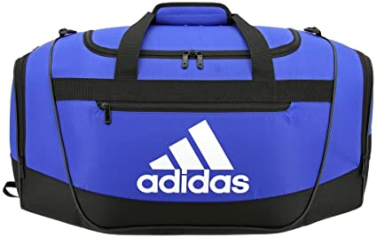 4e52352c0 adidas Defender III Duffel Bag-Bold Blue/Black/White, Small: Amazon ...