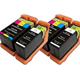 4 ( 2 Set) Colour Direct Compatible Ink Cartridges Replacement For Dell 21 Series - All-In-One P513w P713w V313 V313w V515w V715w 2 Black & 2 Color
