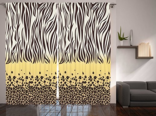 Funky Zebra Window Panels · Safari Zebra Print Curtain Panels