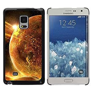 Espiral Haces De Iluminación - Metal de aluminio y de plástico duro Caja del teléfono - Negro - Samsung Galaxy Mega 5.8