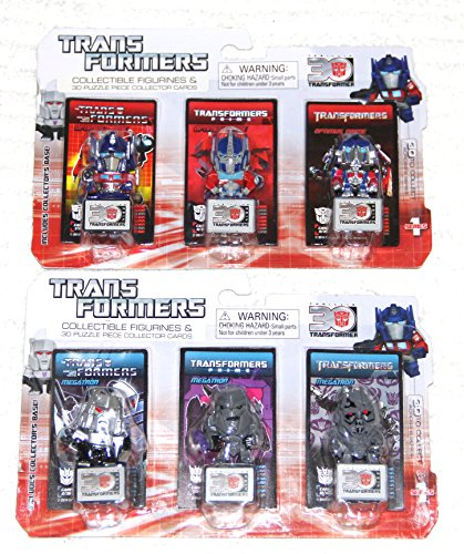 "Transformers 30th Anniversary Series Optimus Prime Megatron 1.25"" Mini-Figures Set of 2"
