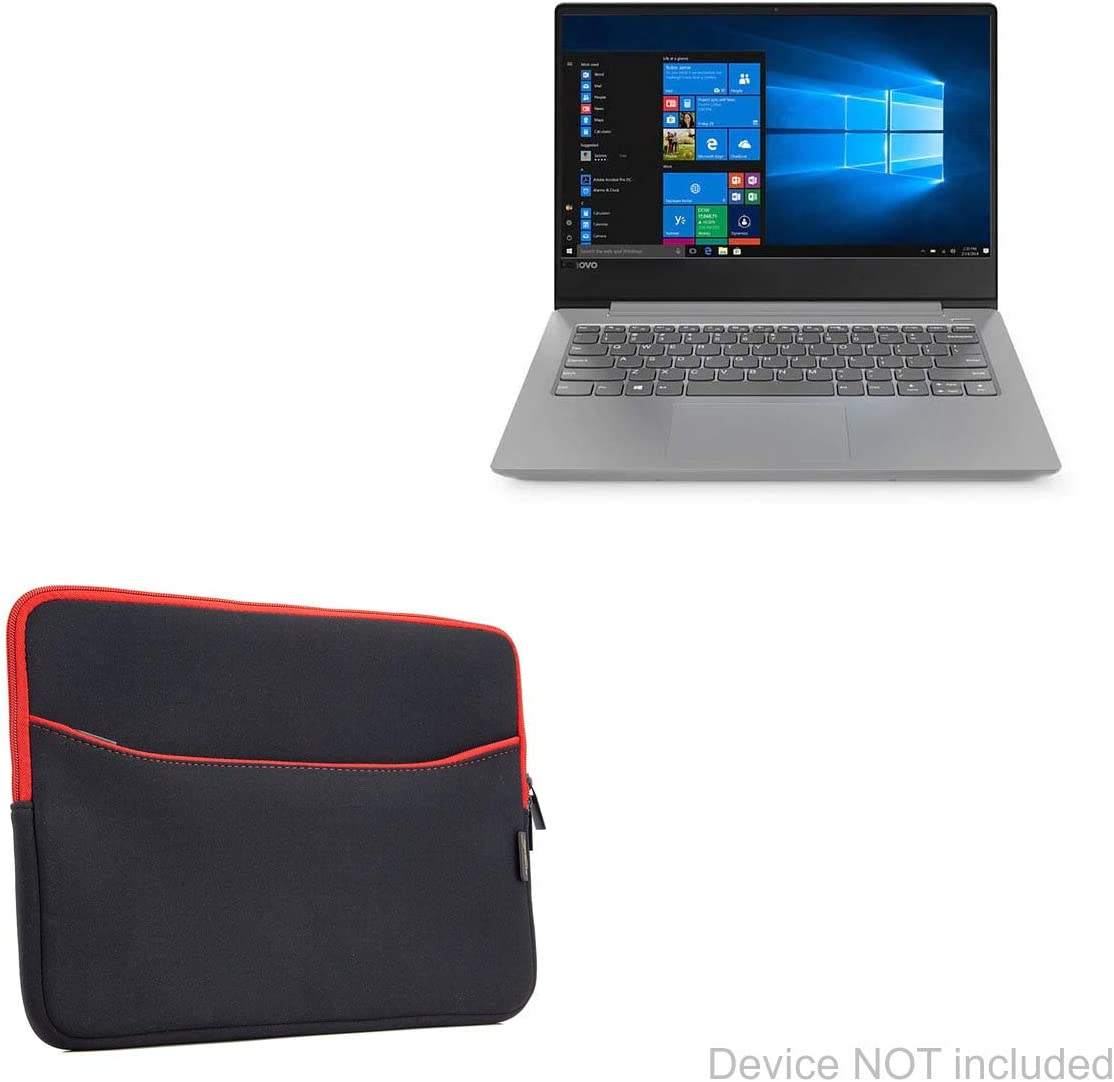 - Jet Black with Red Trim SoftSuit with Pocket 14 in 14 in BoxWave Soft Pouch Cover w//Sleeve for Lenovo IdeaPad 330S Case Lenovo IdeaPad 330S