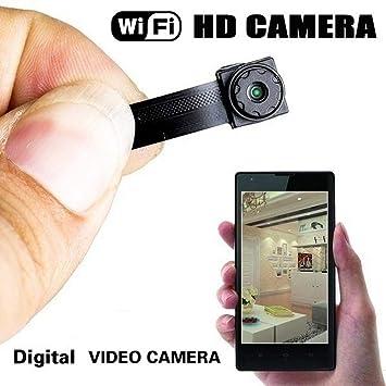 YENJOS Mini Cámara Espía Oculta, Seguridad WiFi 640P Cámara, Cámara Portátil Interior/Hogar Cámara IP de Seguridad: Amazon.es: Deportes y aire libre