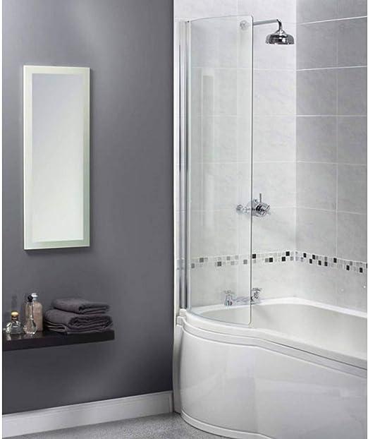 Shine 1/2 con marco curvado de baño pantalla, 1500 x 850: Amazon ...