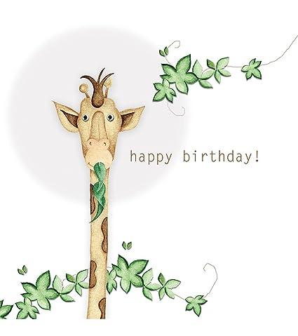 Tarjeta Felicitación Happy Birthday. Jirafa. N. 3 Tarjetas ...